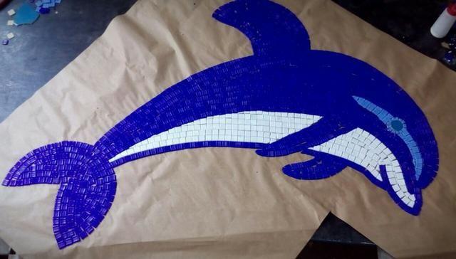 Fundo de piscina golfinho e outros desenhos