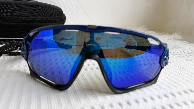 8bd0bbd04 Óculos de Ciclismo Oakley Jawbreaker Azul Marinho Polido/Preto Prizm -  Importado