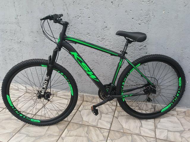 6b1a4a8d9 Bicicleta aro 29 Nova! Aluminio shimano Tourney