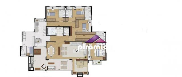 Apartamento com 4 dormitórios à venda, 259 m² por R$ 1.695.000,00 - Jardim das Colinas - S - Foto 13