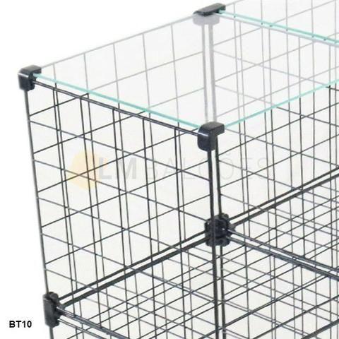 Aramado 1,20 x 1,00 x 0,30 c/ tampo de vidro 12 casulos - imperdivel ' - Foto 3