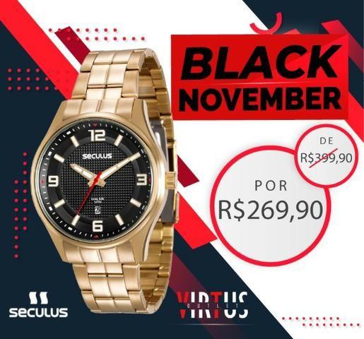Mega Promoção Relógio Seculus, Masculino, Original, Garantia, Aço Inoxidável - Foto 2