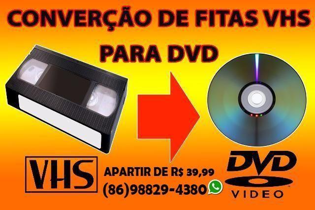 Passo suas fitas vhs para dvd, pendrive ou hd externo R$ 39,99 a unidade