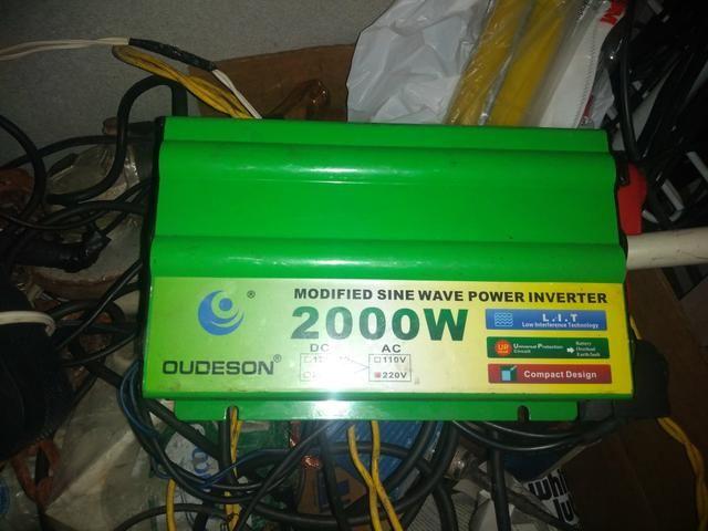 Inversor de 2000 watts só 550 reas