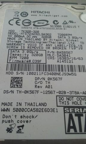 "Hd Sata 2,5"" 500Gb Para Notebool e Desktop"