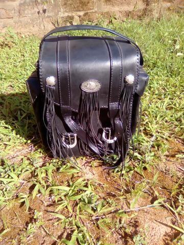 Bolsa de couro para moto Custom - Foto 6