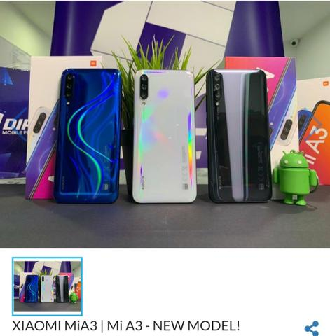 Xiaomi Mi A3 128GB $ 1.050 Ac.todos cartão