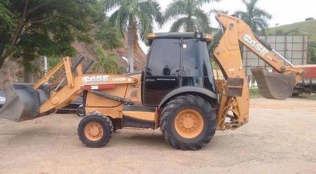 Retro Escavadeira Case Modelo 580n 4X4
