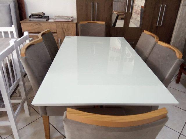 Mesa de vidro com 6 cadeiras - Foto 3