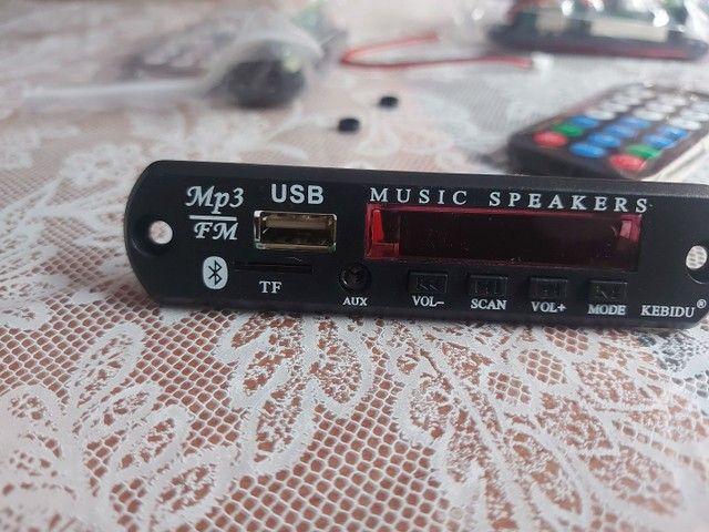 Placa mp3 via Bluetooth  com controle remoto - Foto 5