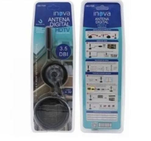 Tv antena interna 3.5 dbi , 4.3 metros de cabo pronta pra uso, $58.00 lacrada - Foto 2
