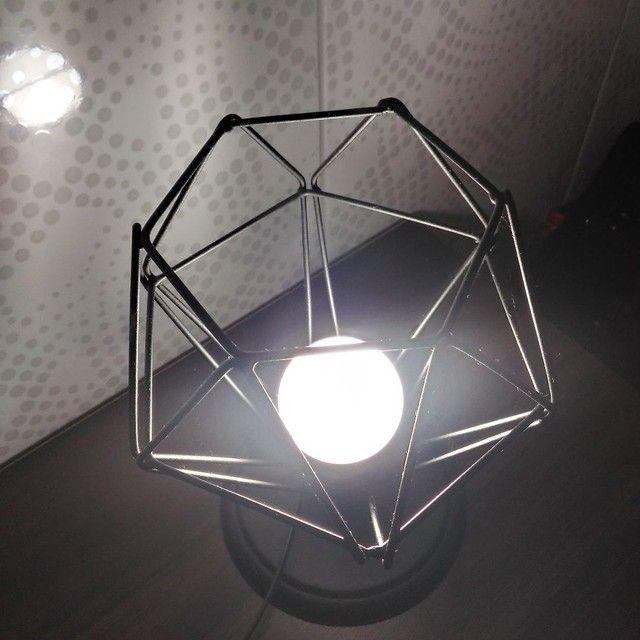 Luminária de mesa - diamante preto  - Foto 4