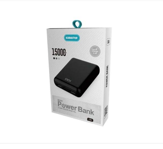 (NOVO) Mini Power Bank 15000mah - Foto 3