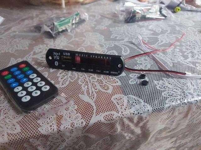 Placa mp3 via Bluetooth  com controle remoto - Foto 4