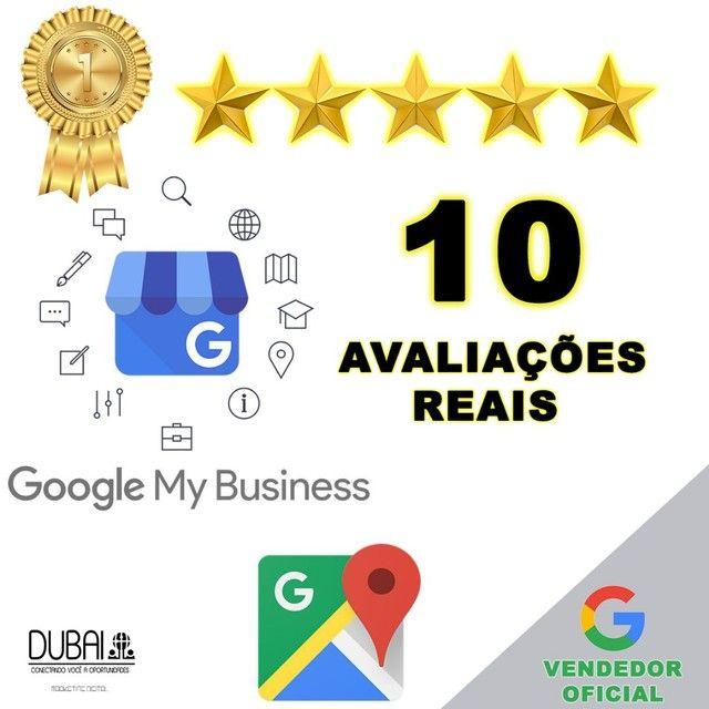 10 avaliações 5 estrelas Google Meu Negócio