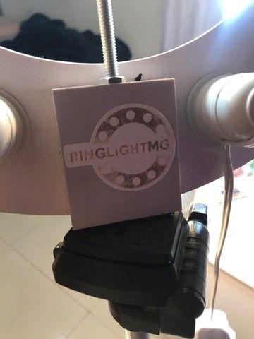 Ring light com 6 lâmpadas led inclusas - Foto 4