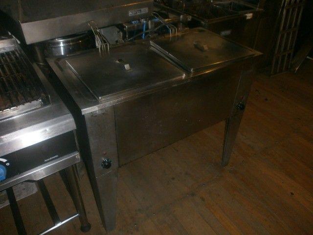 fritadeira industrial - agua e óleo - dupla - 220 volts - inox - Foto 4
