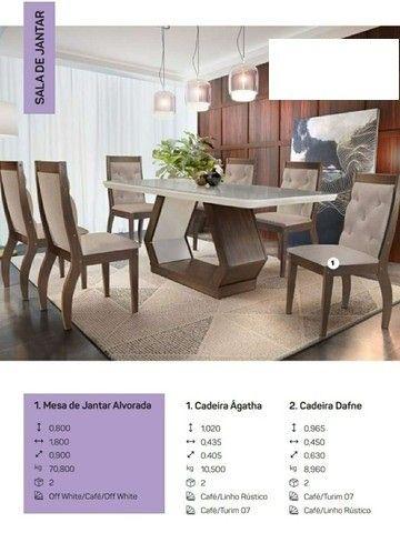 Mesa alvorada com 6 cadeiras