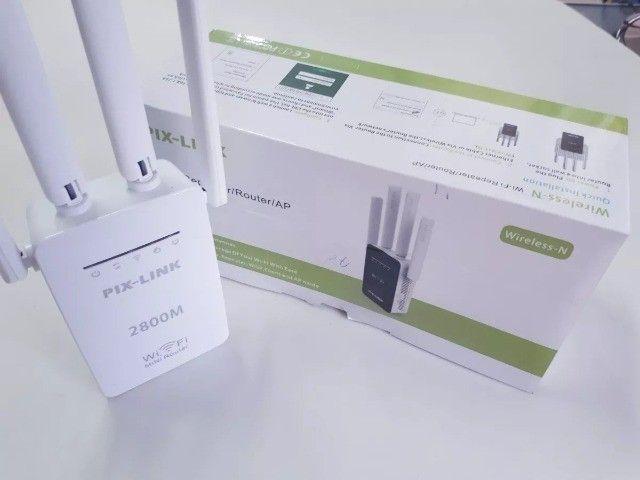Repetidor Wifi e Roteador 4 Antenas Pix-link - Novo