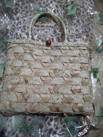 Bolsa de palha nova embalada - Foto 3
