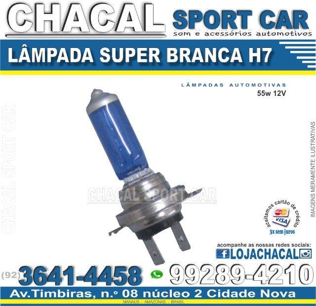 Lâmpada Super Branca H7 12v 60/55w