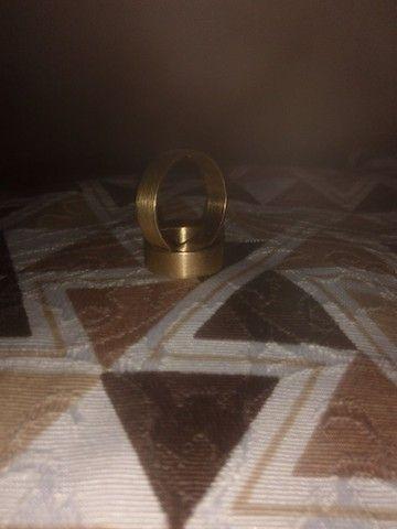 Alianças banhadas em ouro 18 - Foto 3