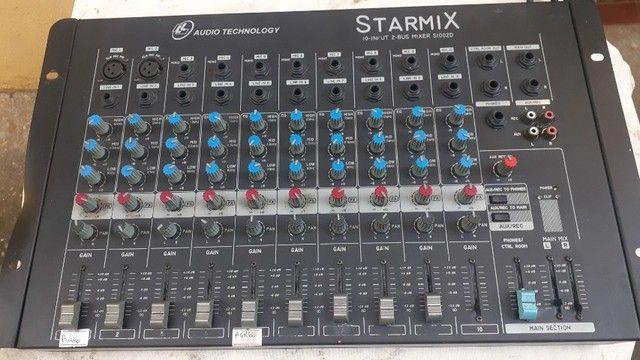 Mesa de som Starmix 10 canais   funcionando - Foto 2
