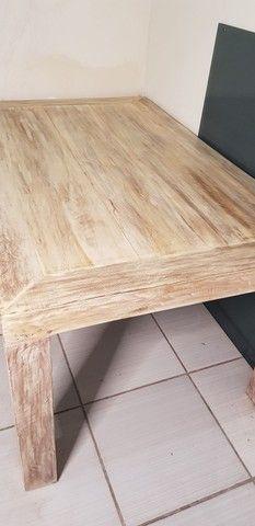 Mesa de madeira nobre maciça  - Foto 4