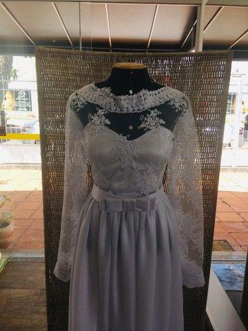 Vestido de noiva NOVO gazar e renda - Foto 2