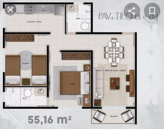 Cond. Parque Itaóca - vende ótimo apartamentos com sacada, 2/4 com e sem suíte. - Foto 12