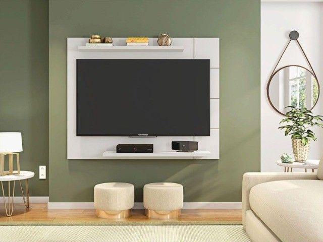 Painel Cross Caemmun Branco Brilhante TV Até 58 '' - Foto 2
