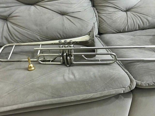 Trombone em sib shelter niquelado top  - Foto 4