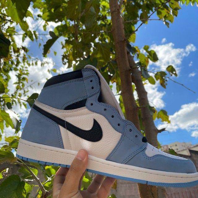 Tênis Jordan 1 High University Blue  - Foto 4