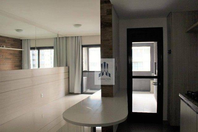 Apartamento com 1 dormitório para alugar, 48 m² por R$ 1.300,00/mês - Bigorrilho - Curitib - Foto 2