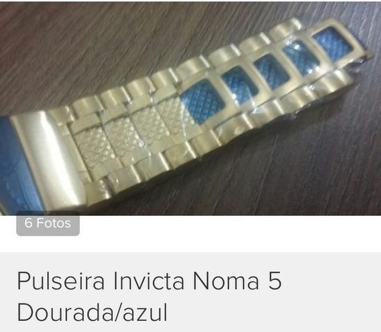 Pulseira invicta norma 5 metal