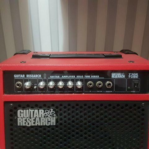 Cubo GuitarResearch 40W Pré Valvulado Reverb de mola - Foto 5