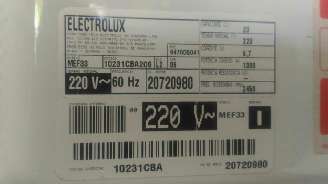 Micronda eletrolux 31 litros - Foto 5
