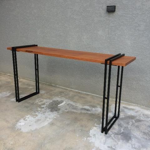 Aparador estilo industrial madeira maciça aço ferro - Móveis ... 2522c88344f1c