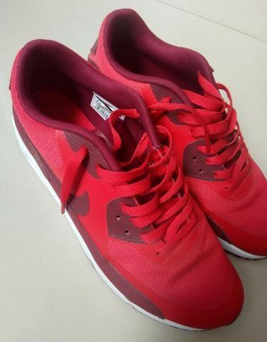 ae8f4c1098 Tênis Nike Air Max 90 Ultra 2.0 Essential Vermelho Masculino Tam. 40 ...