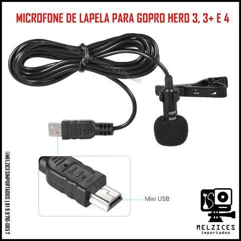 Microfone de Lapela para GoPro Hero 3 e 4 - Foto 3