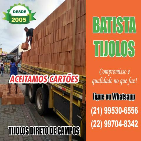 Aceitamos cartões Tijolos 10 furos de Campos Ltda!