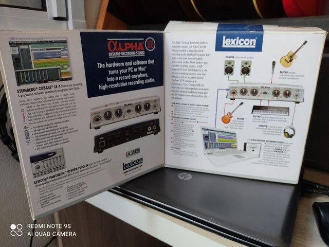 Interface Áudio USB Lexicon Alpha - Foto 6