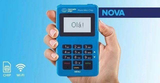 Máquina cartão mercado pago Point Mini chip