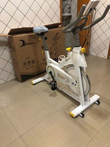Bicicleta Bike Spinning Wave W500 zerada - Foto 3