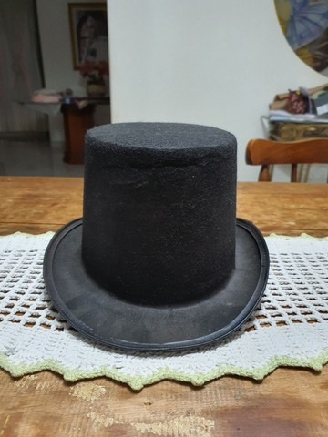 Cartola de tecido preta