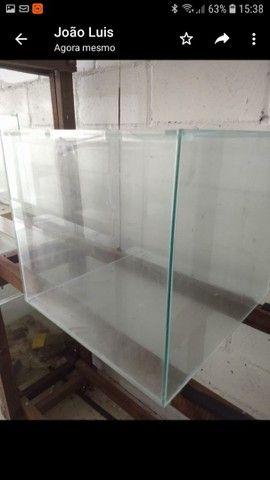 Aquário 50x50x45 vidro de 5mm -112 litros - Foto 2