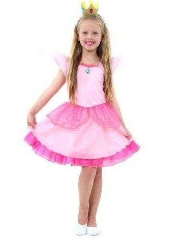 fantasia princesa peach infantil - super mario world - Foto 2