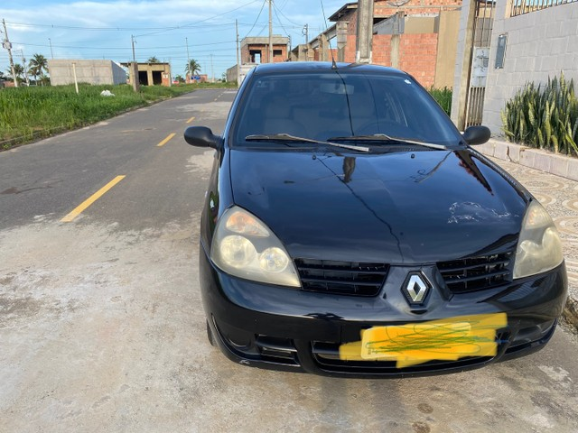 Renault Clio HATCH  1.0 16v.Flex 4p manual  Ano 2009 modelo 2010 Gasolina e álcool  preto  - Foto 8