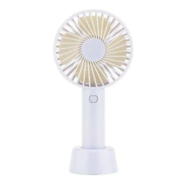 mini ventilador handy mini fan portátil mão usb recarregável 5.0 - Foto 3