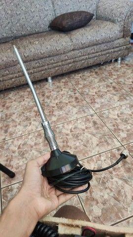 Rádio amador Cobra 19 Ultra III (3) + Antena top novos - Foto 4